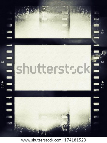 grunge film strip background - stock photo