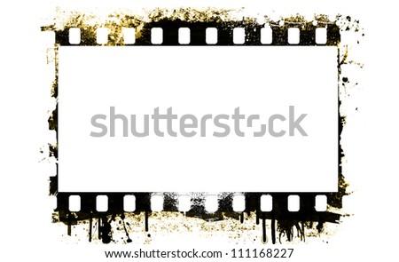 Grunge film strip frame - stock photo