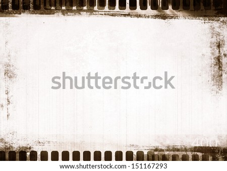 grunge filmstrip with space for picture or text - stock photo