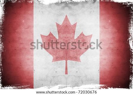 Grunge flag canada - stock photo