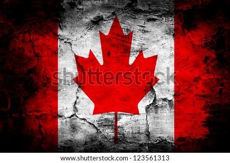 Grunge flag of - stock photo