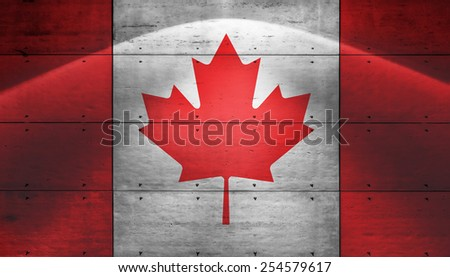 grunge flag of Canada - stock photo