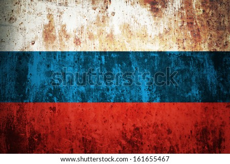 Grunge flag of European country Russia - stock photo