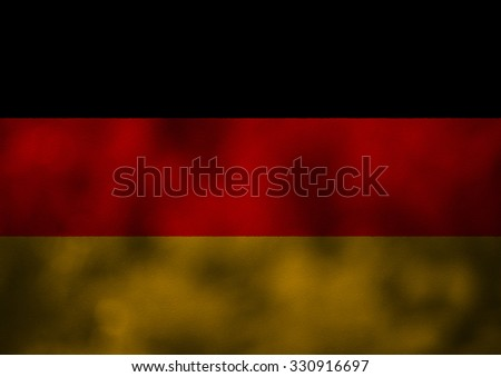 grunge flag of germany on old texture background - stock photo