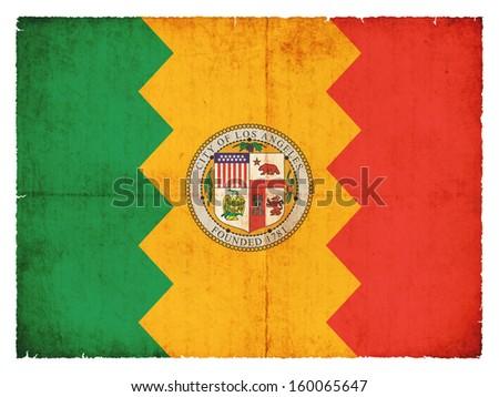 Grunge flag of Los Angeles (USA) - stock photo
