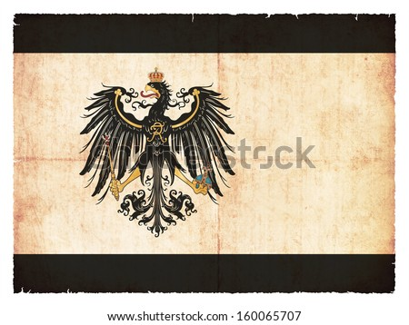 Grunge flag of Prussia (historic, 1892-1918) - stock photo