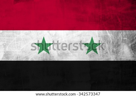 Grunge Flag of  Syria  - stock photo
