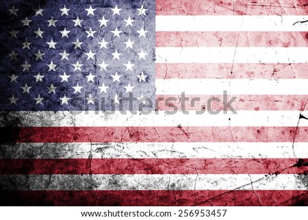 Grunge flag of the USA - stock photo