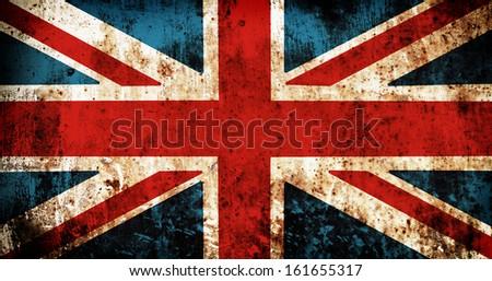 Grunge flag of United kingdom - stock photo