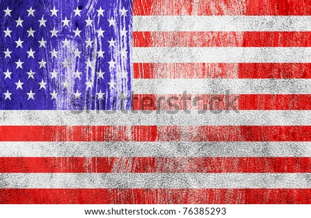 Grunge Flag of United States of America. Celebrate 4th of July - stock photo