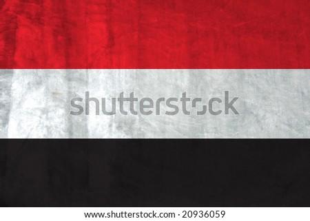 Grunge Flag of Yemen - stock photo