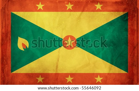 Grunge flag series -  Grenada - stock photo