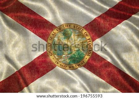 Grunge Florida state Flag - stock photo