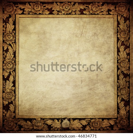 grunge framework - stock photo