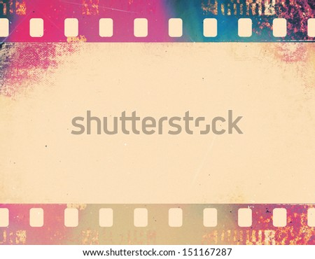 Grunge graphic abstract background with color film digital - stock photo