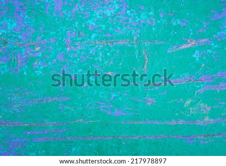 Grunge green and blue painted wooden textured background - stock photo