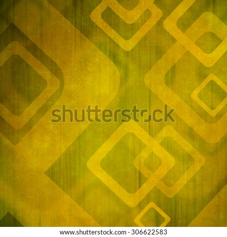 Grunge green background with geometric pattern - stock photo