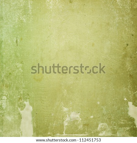 grunge green paper texture, distressed background - stock photo