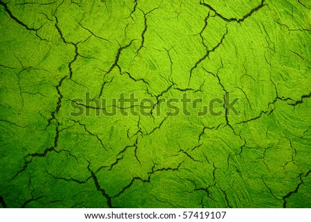 grunge green texture with crack - stock photo