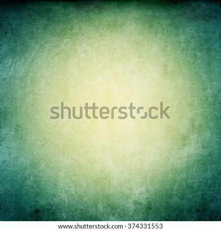 Grunge Green Yellow Texture Shabby Square Vintage Vignette Background  - stock photo