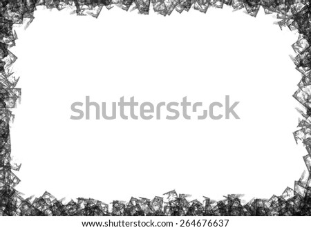 Grunge grey photo frame - abstract texture - stock photo