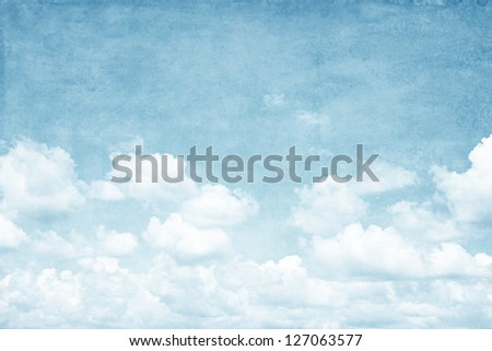 Grunge image of cloudy sky. - stock photo
