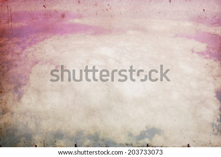 Grunge image of sky and clouds with filtered image. Vintage sky background. - stock photo