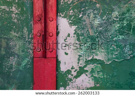 Grunge industrial background of old peeling paint on rough. - stock photo