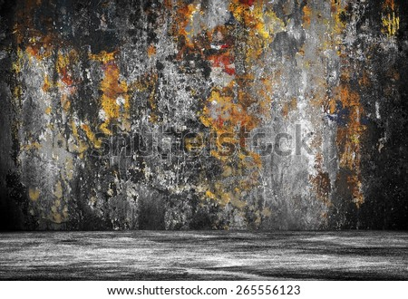 grunge interior  - stock photo