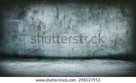 Grunge Interior. Studio template - stock photo