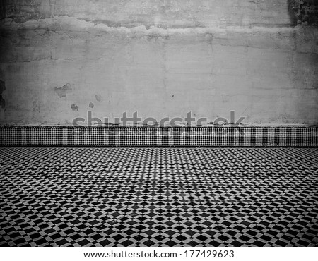 grunge interior with copy-space - stock photo