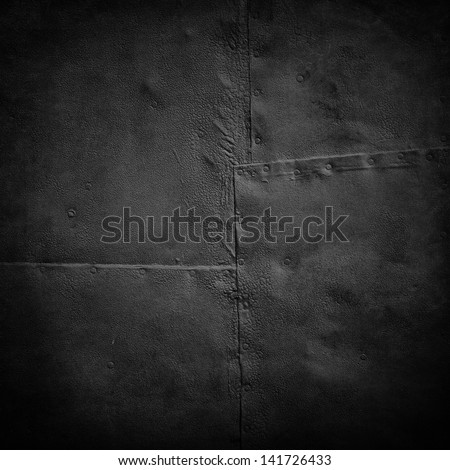 grunge iron plates - stock photo