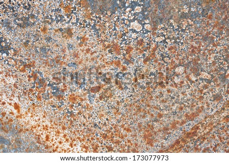 Grunge iron rust  texture, old steel corrosion background - stock photo