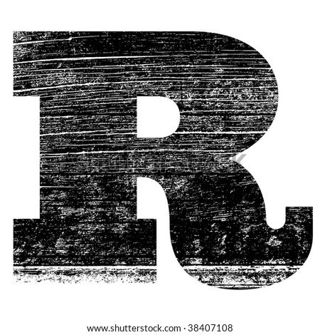 R Alphabet Design grunge letter R alphabet symbol design - stock photo