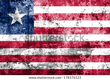 Grunge Liberia Flag  - stock photo