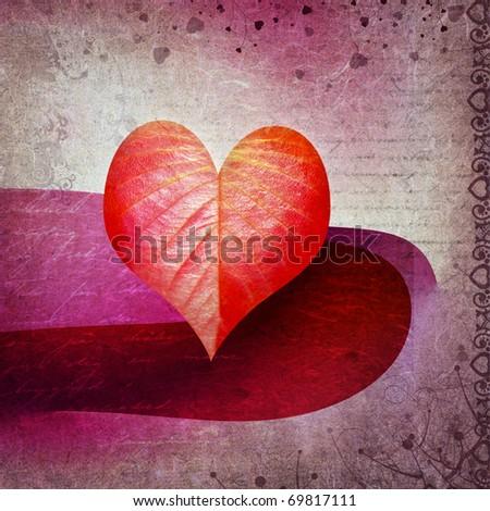 Grunge love background. Valentine's day card. - stock photo