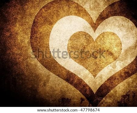 grunge love pattern background - stock photo