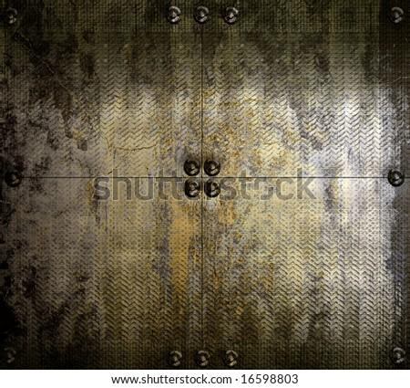 Grunge Metal - stock photo