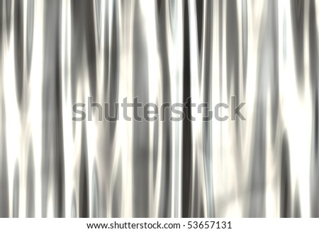 grunge metal curtain with highlights - stock photo