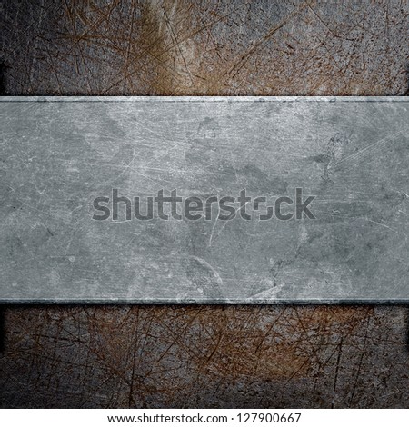 grunge metal plate abstract background - stock photo