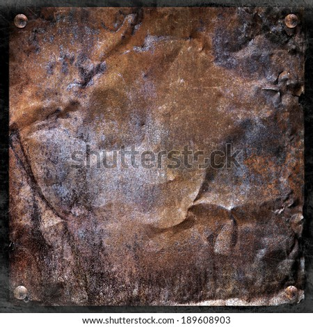 grunge metal plate or background - stock photo