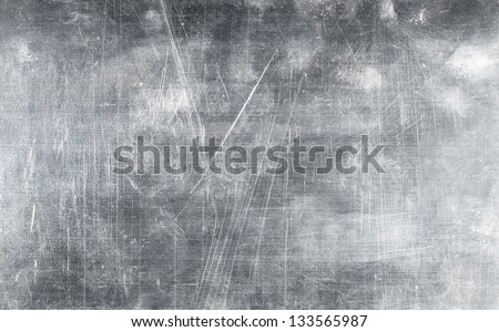 Grunge metal plate texture with screws, background - stock photo