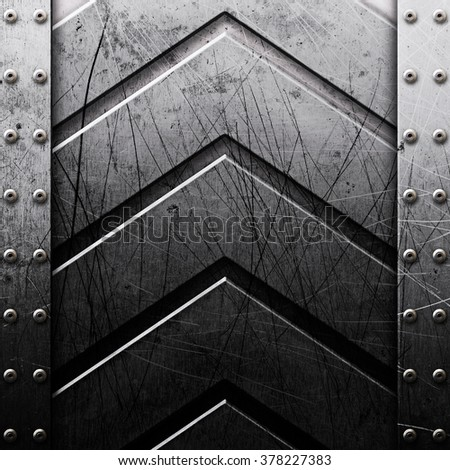 Grunge metal texture. Industrial background with rivets - stock photo