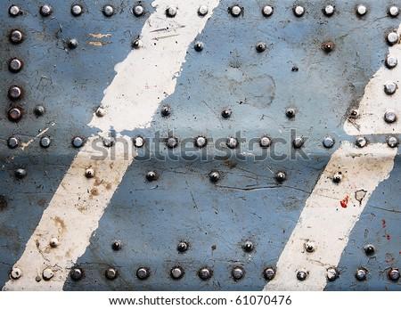 Grunge metal textures - stock photo