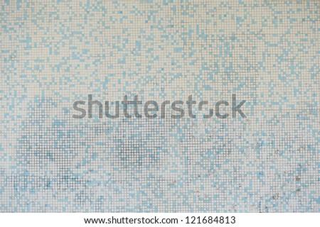 grunge mosaic wall floor texture. - stock photo