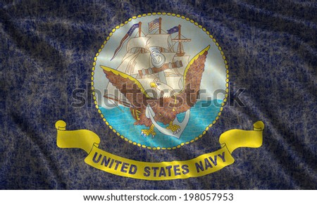 Grunge Naval Forces US Flag - stock photo