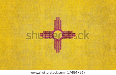 Grunge New Mexico state Flag - stock photo