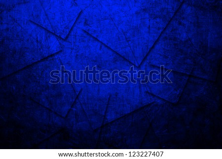 Grunge of blue metal texture background - stock photo