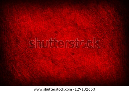 Grunge of red metal texture background - stock photo
