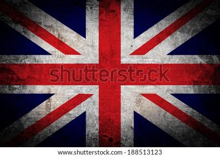 Grunge of United kingdom flag - stock photo